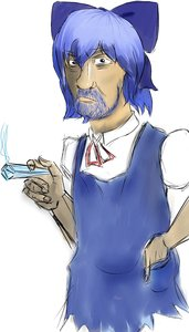 Rating: Safe Score: 0 Tags: beard blue_eyes blue_hair bow cirno dress has_child_posts parody short_hair sketch smoking touhou zigmund_freud User: (automatic)Anonymous