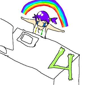 Rating: Safe Score: 0 Tags: chibi computer crying purple_hair rainbow table tablet tears twintails unyl-chan User: (automatic)nanodesu