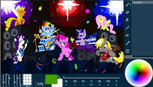 Rating: Safe Score: 0 Tags: animal applejack /bro/ collective_drawing concert crowd derpy_hooves drum flockdraw fluttershy guitar horn horns instrument keyboard microphone multicolored_hair music my_little_pony no_humans oekaki pegasus pinkie_pie pony rainbow_dash rarity screenshot sketch stage twilight_sparkle unicorn wings User: (automatic)Anonymous