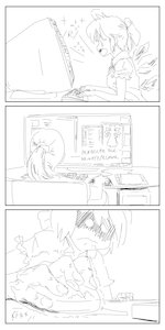 Rating: Safe Score: 0 Tags: angry bow cirno computer f2d_(artist) iichan monitor monochrome short_hair sketch strip table wings User: (automatic)Anonymous