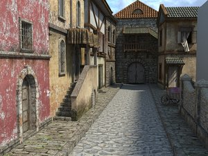 Rating: Safe Score: 0 Tags: 3d city has_child_posts house medieval no_humans outdoors User: (automatic)Anonymous