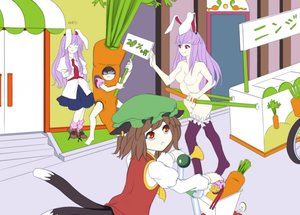 Rating: Safe Score: 0 Tags: bunny_ears carrot chen inaba_tewi nude reisen_udongein_inaba tagme thighhighs touhou User: (automatic)Anonymous