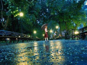 Rating: Safe Score: 0 Tags: animal_ears atmospheric brown_hair cat_ears drawing_on_photo evening hudozhnik-kun_(artist) park photoshop rain umbrella uvao-chan User: (automatic)ii