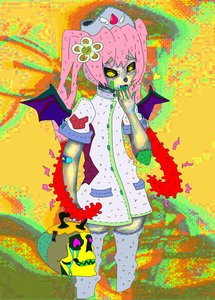 Rating: Safe Score: 0 Tags: acid_colors ebola-chan flower hair_flower nurse nurse_headdress nurse_outfit personification pink_hair skull thighhighs twintails wings yellow_eyes zettai_ryouiki User: (automatic)Anonymous