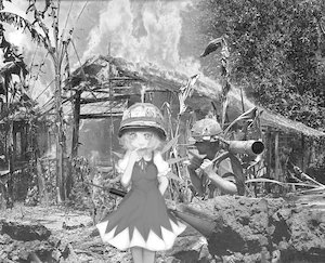 Rating: Safe Score: 0 Tags: cirno fire helmet military monochrome photo photoshop touhou vietnam weapon wings User: (automatic)Anonymous