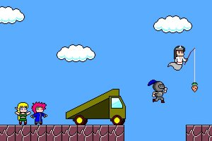 Rating: Safe Score: 0 Tags: 1boy 3girls armor best_anime_evar black_hair blonde_hair carrot carrot_fishing_rod diadem elf fishing_rod ghost helmet jumping knight long_hair magician mario oyashiro parody pink_hair pixel_art sky super_mario_brothers trap triangle_kerchief yuka User: (automatic)June