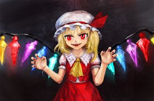 Rating: Safe Score: 0 Tags: blonde_hair evil_smile fang flandre_scarlet frills hat main_page nail_polish necktie red_eyes smile /to/ touhou wings User: (automatic)nanodesu
