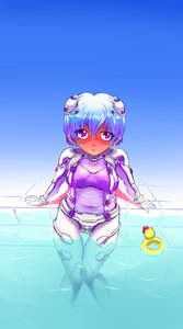 Rating: Safe Score: 0 Tags: 1girl ayanami_rei blue_hair idleantics_(artist) neon_genesis_evangelion plugsuit red_eyes short_hair sitting solo swimming_pool toy water User: (automatic)nanodesu