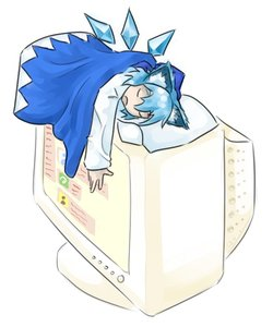 Rating: Safe Score: 0 Tags: animal_ears blanket cat_ears cirno computer display has_child_posts imageboard open_mouth pillow shirt sleeping touhou wings User: (automatic)Willyfox
