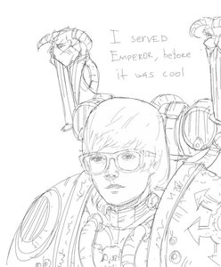 Rating: Safe Score: 0 Tags: armor glasses justin_bieber male monochrome power_armor short_hair simple_background sketch warhammer_40k User: (automatic)nanodesu
