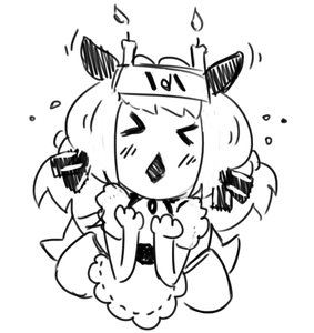 Rating: Safe Score: 0 Tags: >_< animal_ears blush candle chibi hon-hon maid monochrome oxykoma_(artist) sketch User: (automatic)Anonymous