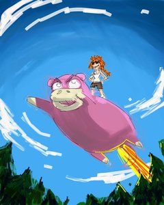 Rating: Safe Score: 0 Tags: bomb-chan braid flying from_below glasses orange_hair outdoors pokemon riding shorts sketch sky slowpoke sunglasses top tree tsar-bomb-chan User: (automatic)nanodesu