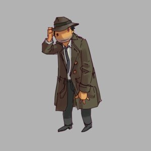 Rating: Safe Score: 0 Tags: 1boy co2_(artist) co_(artist) coat eroge grey_background hat male necktie pants shirt simple_background solo tolik User: (automatic)Anonymous