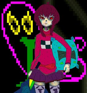 Rating: Safe Score: 0 Tags: braid brown_hair has_child_posts madotsuki pillow red_eyes skirt sweater twin_braids yume_nikki User: (automatic)Anonymous