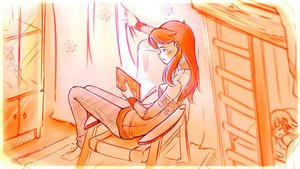 Rating: Safe Score: 0 Tags: bed book chair character_request idleantics_(artist) long_hair orange reading room russian sitting sleeping sweater tagme the_monkeys_series window User: (automatic)Anonymous