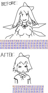Rating: Safe Score: 0 Tags: bow breasts cirno comparison iichan madskillz monochrome short_hair sketch strip wings User: (automatic)Anonymous