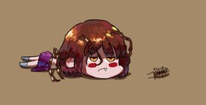 Rating: Safe Score: 0 Tags: antennae b-fractal_(artist) blush brown_eyes brown_hair chibi fang insect lying scolopendra-chan User: (automatic)Anonymous